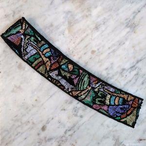 Vintage Rockstar Belt - Colorful Beadwork
